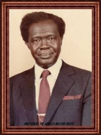 Party Founder Dr. MILTON OBOTE